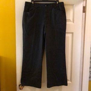 Black stretch twill pants size 16 petite